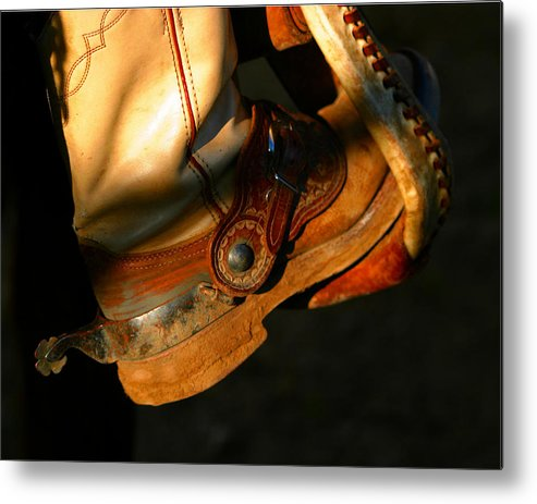 Rodeo Metal Print featuring the photograph Ready To Run.. by Carol Miller