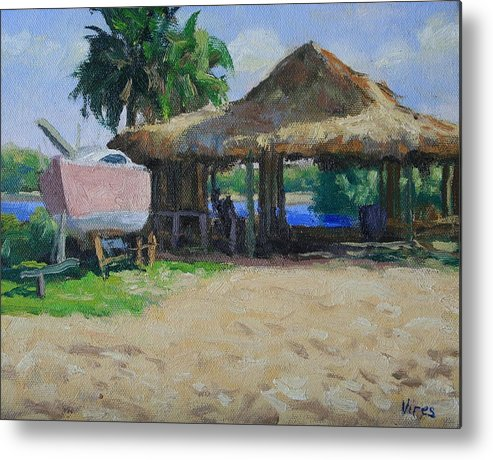 Oil Painting Metal Print featuring the painting Retired by Michael Vires