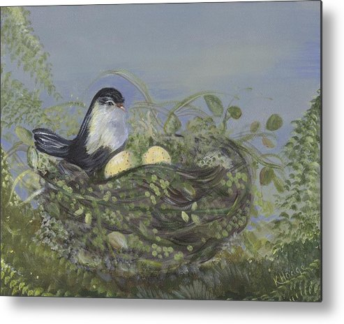 Birds Metal Print featuring the painting Blessed Nest by Kimberly Hodge