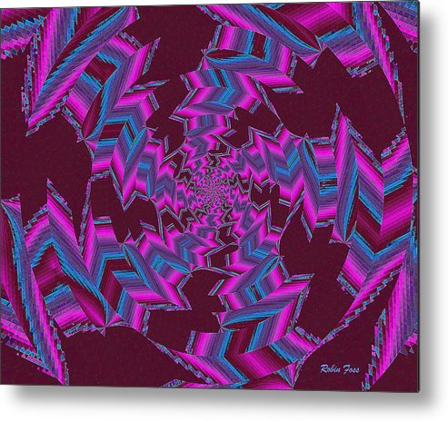 Fractal Metal Print featuring the digital art Industry by Robin Foss