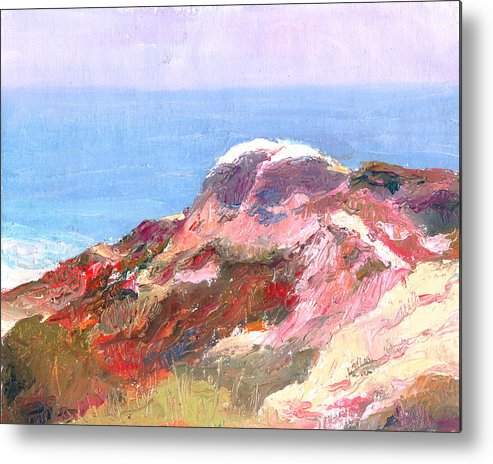 Landscape Metal Print featuring the painting San Clemente Overlook by Timothy Chambers