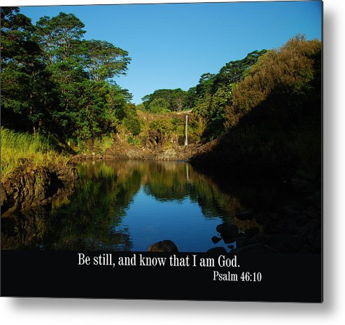 Christian Metal Print featuring the photograph Secret Pond by Steven Rice