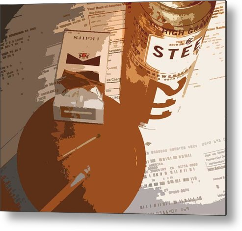 Credit Metal Print featuring the photograph Steel Reserve by Jennifer Ott
