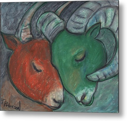 Crayon Metal Print featuring the painting Mazi Aries by Todd Peterson