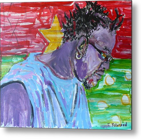 Acrylic Metal Print featuring the painting Man From Burkina Faso by Todd Peterson