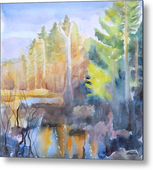 Maine Metal Print featuring the painting Swamp Color by Grace Keown