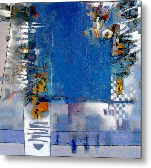 Still Life Metal Print featuring the digital art Blue Kitchen Table by Dale Witherow