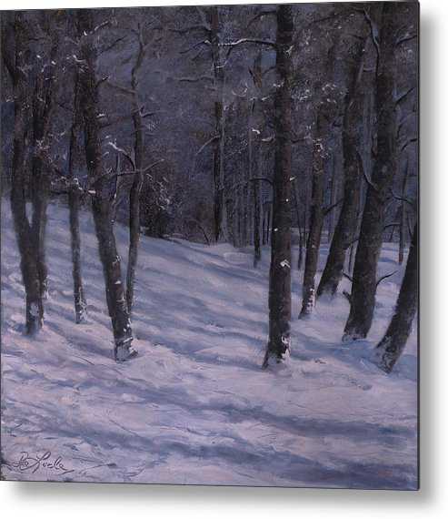 Western Art Metal Print featuring the painting Silence by Mia DeLode