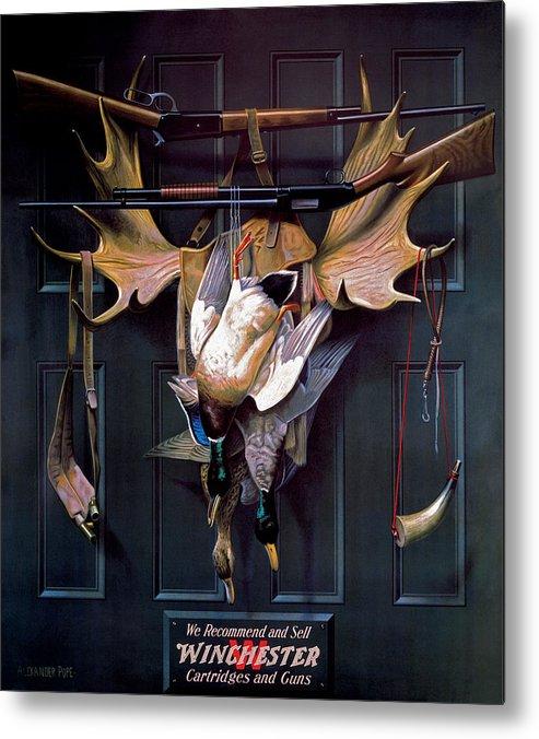 Waterfowl Metal Print featuring the painting Successful Hunter Door Art by Alexander Pope