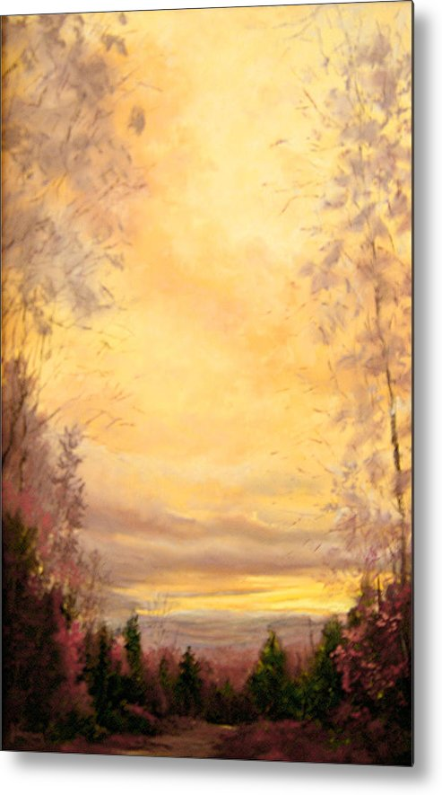 Sienna Metal Print featuring the painting Sojourn by JoAnne Lussier