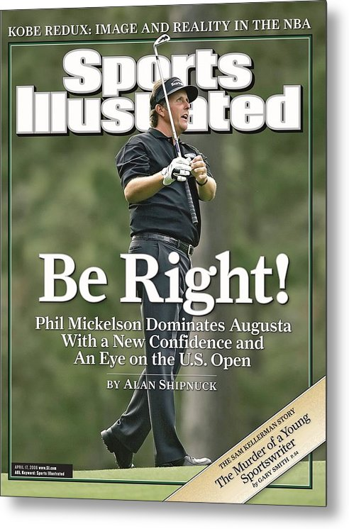 Magazine Cover Metal Print featuring the Phil Mickelson, 2006 Masters Sports Illustrated Cover by Sports Illustrated