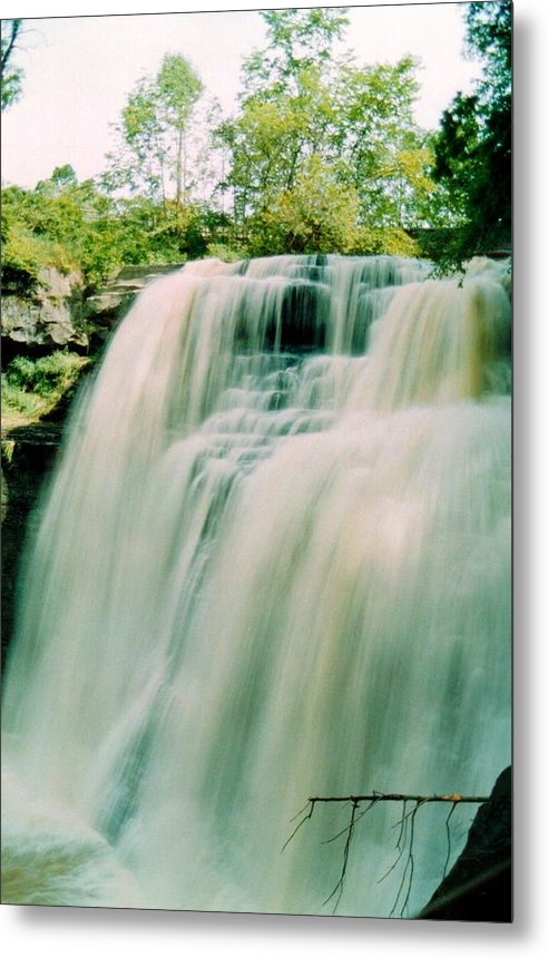 Brandywine Falls Metal Print featuring the photograph 072106-15 by Mike Davis