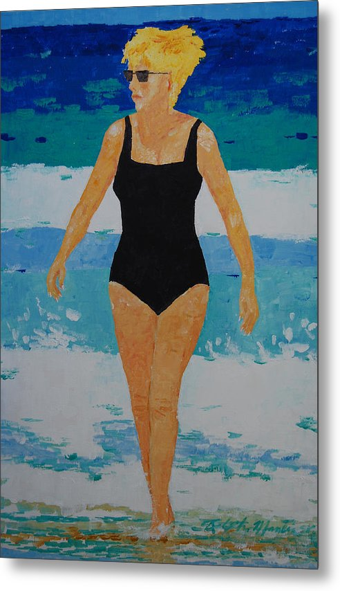 Beach Art Metal Print featuring the painting I Got A Woman by Art Mantia