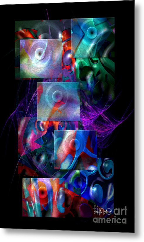 Abstract Color Abstract Realism Metal Print featuring the digital art Get It In Gear by Carolyn Staut