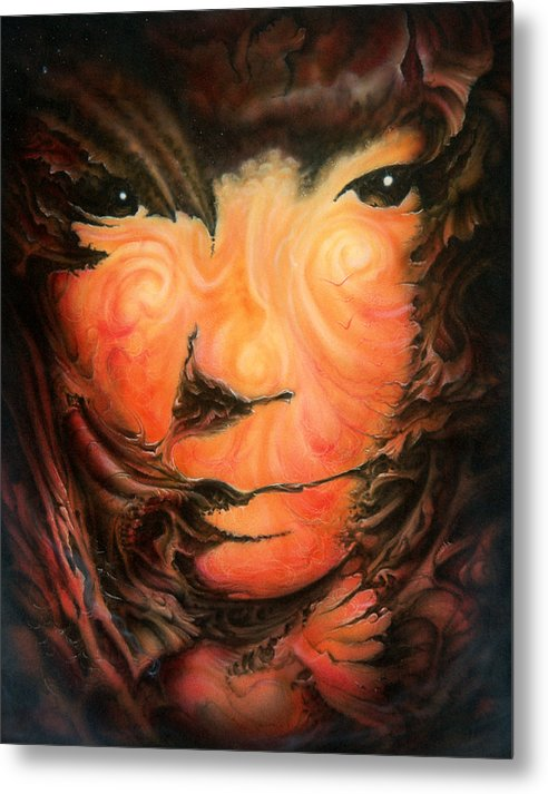 Abstract Metal Print featuring the painting Pagan Poet by Victor Whitmill