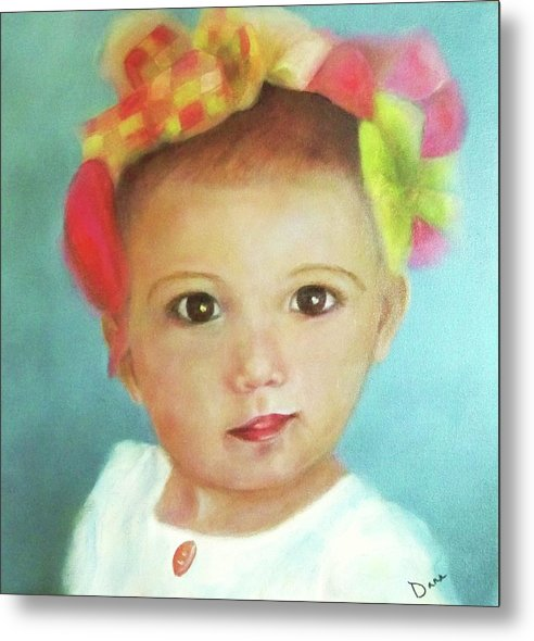 Portrait Metal Print featuring the painting Ella Revisited by Dana Redfern
