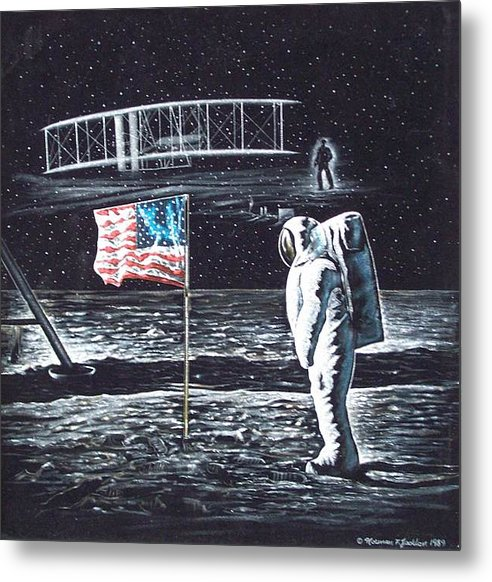 Powered Flight Metal Print featuring the painting If They Only Knew by Norman F Jackson