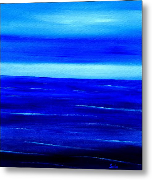Caribbean Metal Print featuring the painting Turquoise Dawn by Sula Chance