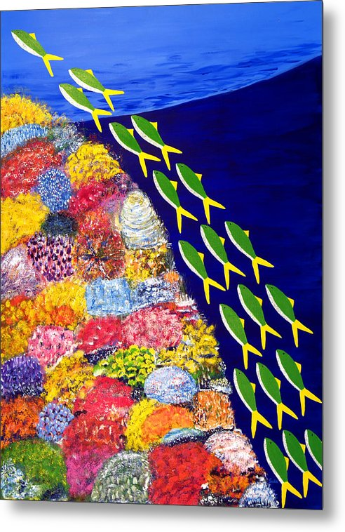 Caribbean Metal Print featuring the painting Rising Shoal IIi by Sula Chance