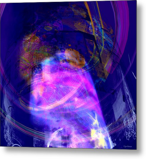 Abstract Metal Print featuring the digital art Caerleon Internet Ai by Constance Peckman