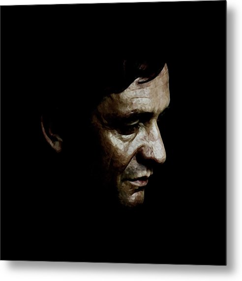 Johnny Cash Metal Print featuring the digital art Cash by Laurence Adamson