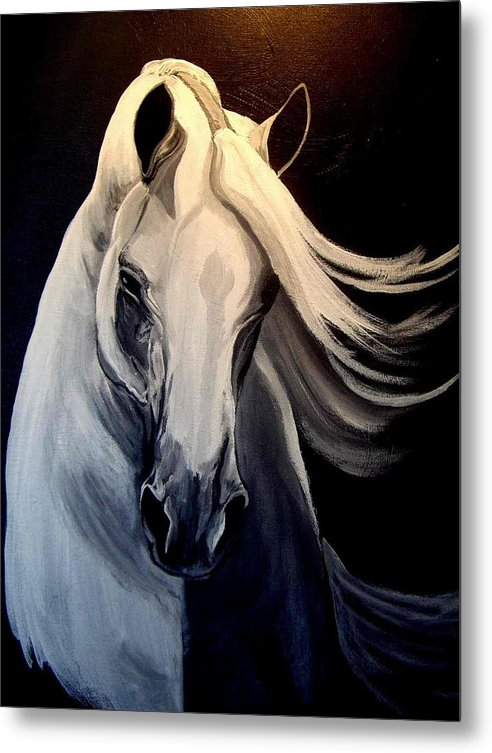Euine Metal Print featuring the painting Andalusian Stallion by Glenda Smith