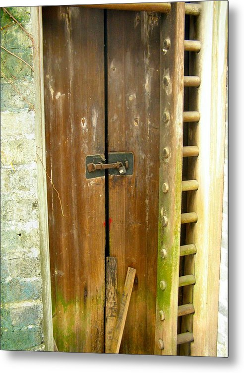 Door Metal Print featuring the photograph Old Chinese Village Door Series Eight by Kathy Daxon