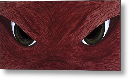 Arkansas Metal Print featuring the painting Hog Eyes by Amy Parker