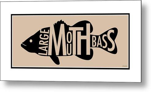Largemouth Metal Print featuring the digital art Largemouth Bass by Geoff Strehlow