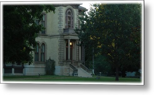David Davis Mansion Metal Print featuring the photograph First Light by Abraham Adams Photography