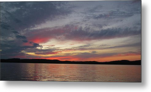 Sunset Metal Print featuring the photograph Painted Sunset On Gunflint Lake by Shari Jardina