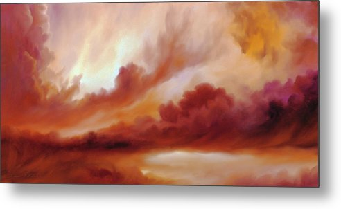 Skyscape Metal Print featuring the painting Receding Storm Sketch IIi by James Christopher Hill