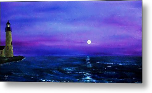 Seascape Metal Print featuring the painting Seascape II by Tony Rodriguez