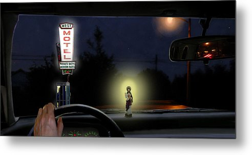 Surreal Metal Print featuring the digital art The Moment Of My Salvation by Evelynn Eighmey
