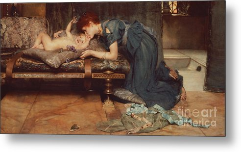 Earthly Metal Print featuring the painting An Earthly Paradise by Sir Lawrence Alma-Tadema
