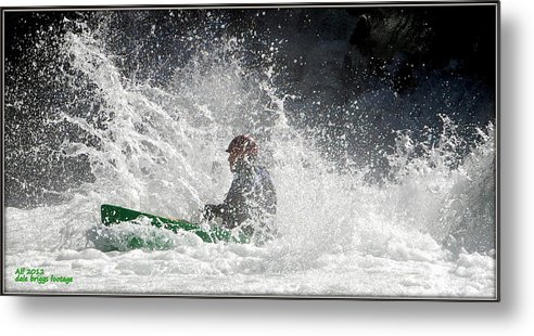 Whitewater Metal Print featuring the photograph Canoeists -river Runners 2012 by Dale Briggs