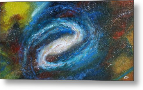 Milky Way Metal Print featuring the painting Home Is Where The Sun Is by David McGhee