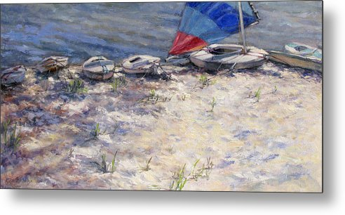 Sail Boats Metal Print featuring the painting Ready To Roll by L Diane Johnson