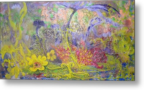 Metal Print featuring the painting Spirit Garden by Heather Hennick