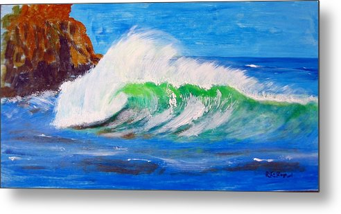 Waves Metal Print featuring the painting Waves by Richard Le Page
