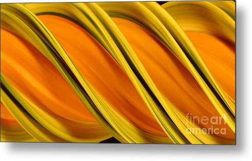 Design Metal Print featuring the photograph Peripheral Streak Image Of Squash by Ted Kinsman