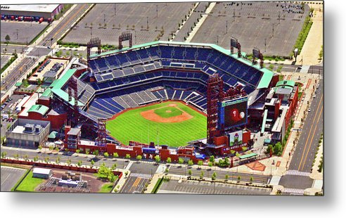 Aerial Photograph Metal Print featuring the photograph Citizens Bank Park Phillies by Duncan Pearson