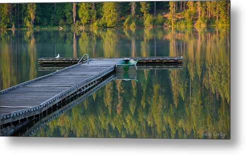 Dock Metal Print featuring the photograph Morning Light by Idaho Scenic Images Linda Lantzy