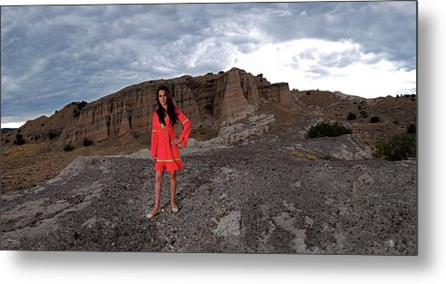 Girl On Mountain Metal Print featuring the photograph New Mexico Princess by Dale Davis