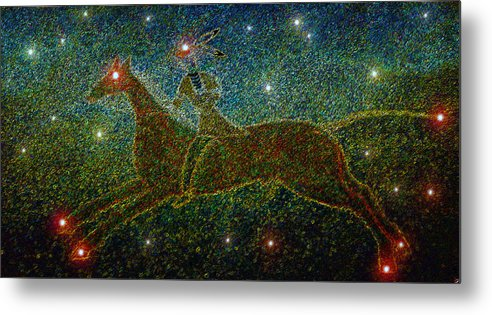 Art Metal Print featuring the painting Star Rider by David Lee Thompson