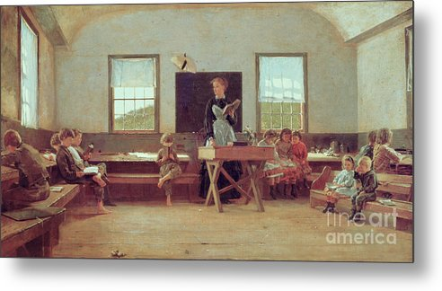The Country School Metal Print featuring the painting The Country School by Winslow Homer