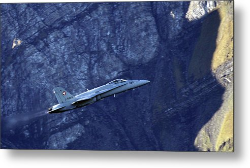 Aircraft Metal Print featuring the photograph In The Swiss Alps by Angel Ciesniarska