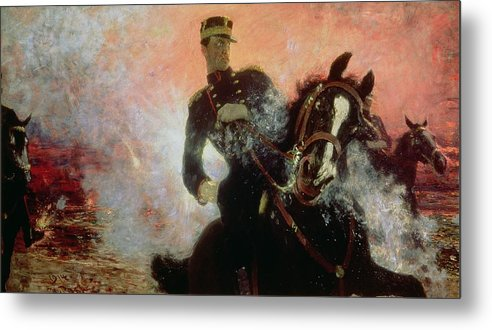 Albert I (1875-1934) King Of The Belgians In The First World War Metal Print featuring the painting Albert I King Of The Belgians In The First World War by Ilya Efimovich Repin