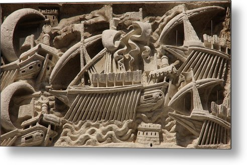 Venice Metal Print featuring the photograph Detail From Church In Venice by Michael Henderson