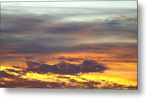 Sunrise Metal Print featuring the photograph Painted Sky Two by Ana Villaronga